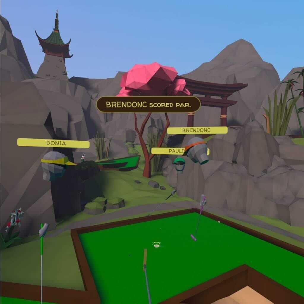 Tyto's VR mini golf competition