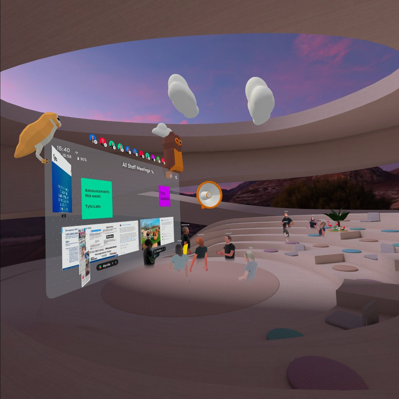 Tyto VR internal meeting using Spatial